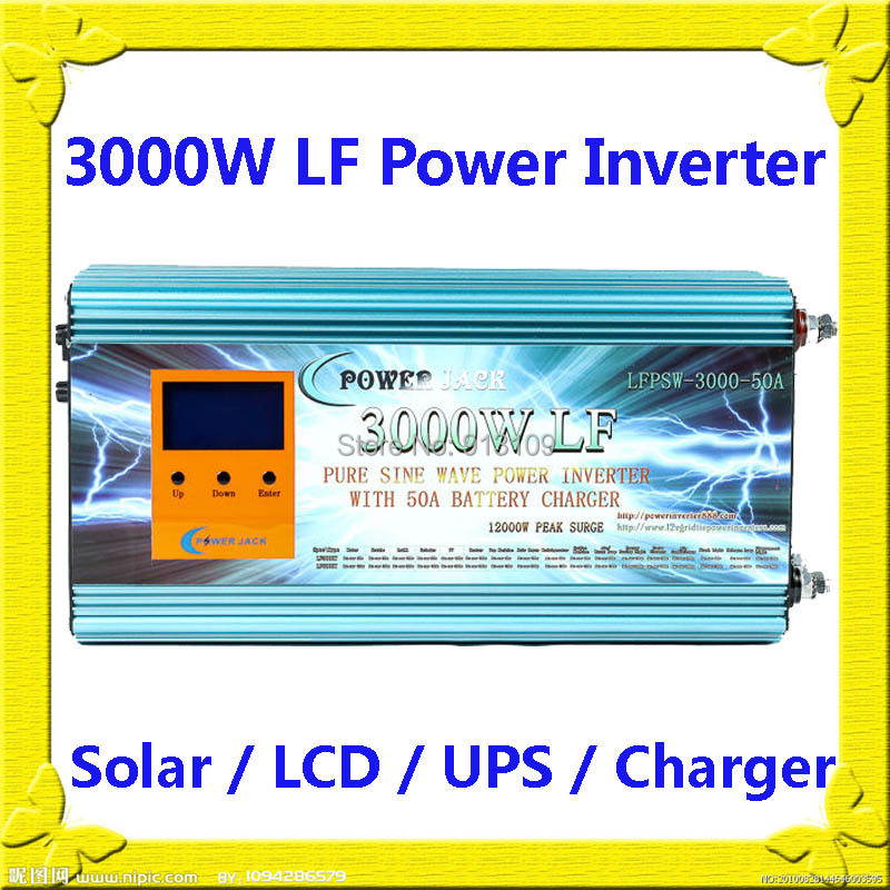 12000W Max 3000W Low Frequency Pure Sine Wave Power Inverter 24V DC//110V AC 60Hz