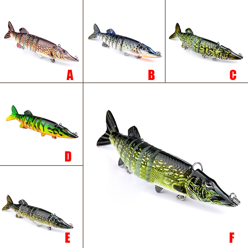 12cm 20g 9 segement isca artificial pike lure muskie for Cheap fishing spinners