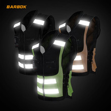 High Visibility Reflective Motorcycle Gilet Jackets Sleeveless Breathable Vest Motocross Moto Road Racing Riding Jackets M-4XL цена и фото