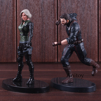 Marvel Avengers rysunek Super Heroes czarna wdowa kapitan ameryka figurka pcv kolekcjonerska Model zabawki dla chłopców