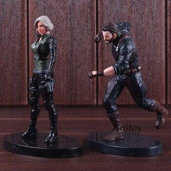 Marvel The Avengers Hình Siêu Anh Hùng Black Widow Captain America Hành Động Hình PVC Sưu Tập Mô Hình Đồ Chơi cho Bé Trai
