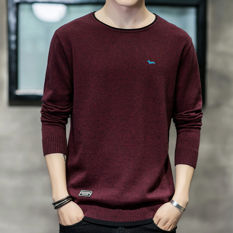 M-3xl Mens Harmont New Spring Fashion Brand Casual Knitted Sweater 100%cotton Solid Pullover Men Blaine O-neck Slim Fit Sweaters