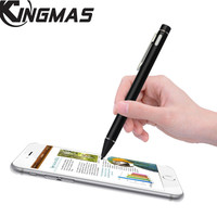 KINGMAS Stylus Capacitive Pen Screen Pencil Portable High Precision 2.0mm Active Touch Pen Stylish Painting Pens Rechargeable