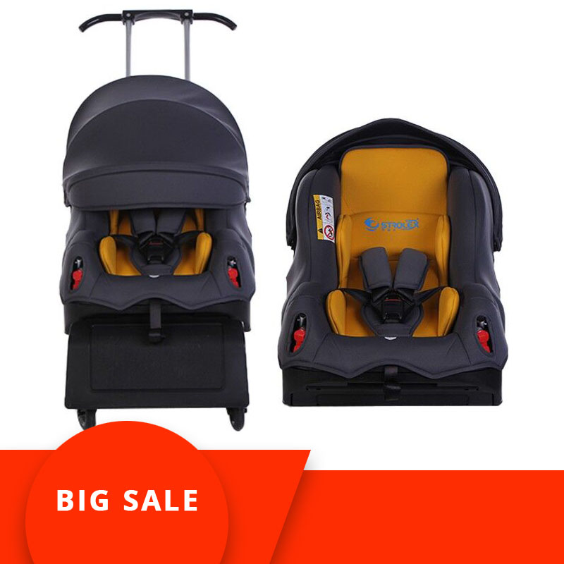 5 In 1Baby Carseat Stroller Child Safety Seat Baby Car Booster Kinderwagen Travel Cart Four Wheel Stroller 0-4Y
