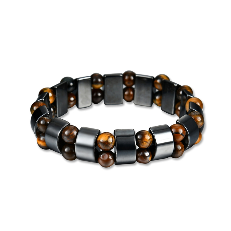 Fashion Magnetic Hematite Bracelet Men Women Pain Relief Therapy Elastic Jewelry
