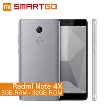 """Ursprüngliche Xiaomi Redmi Hinweis 4X Handy Snapdragon 625 Octa-core 5,5 """"FHD 3 GB RAM 32 GB ROM 13.0MP Kamera Fingerprint ID"""