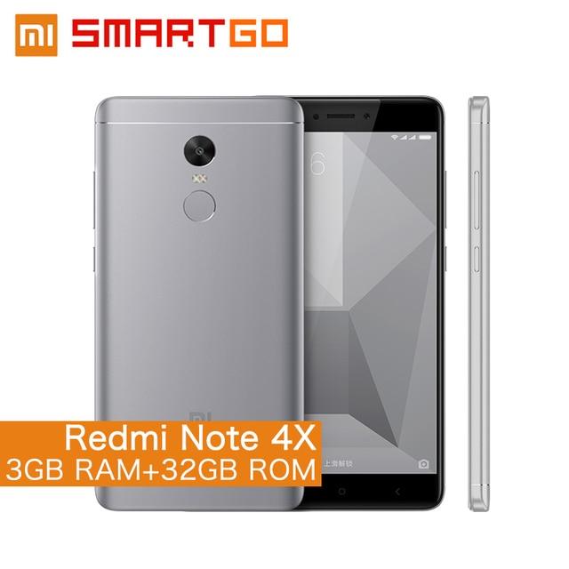 """Оригинальный Xiaomi Redmi Note 4X мобильный телефон Snapdragon 625 Octa Core 5.5 """"FHD 3 ГБ Оперативная память 32 ГБ Встроенная память 13.0MP Камера отпечатков пальцев ID"""