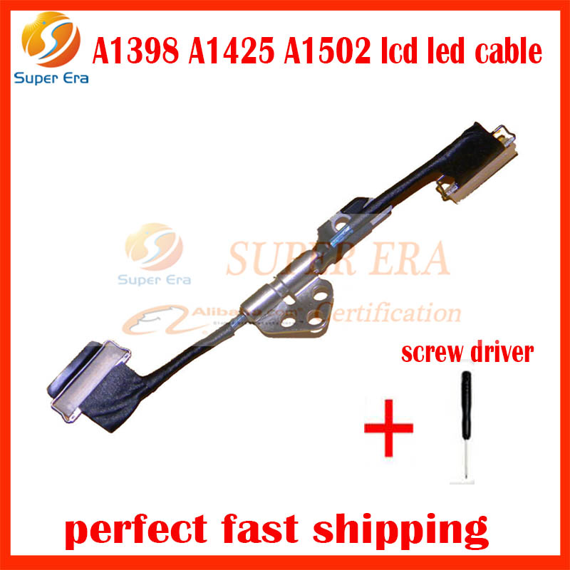 Laptop LCD LVDS Flex Cable For Apple Macbook Retina A1425 A1502 A1398 MD212 ME864 MC976 ME293 2012 2013 2014 2015year original 15 a1398 lcd screen display 2012 2013 2014 for macbook pro retina 15 4 a1398 lcd panel lp154wt1 sjav replacement