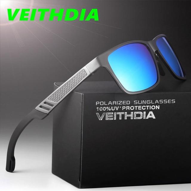 VEITHDIA Original Brand Logo HD Aluminum Magnesium Men Mirror Driving Glasses Goggles Oculos De Sol Polarized Sunglasses 6560