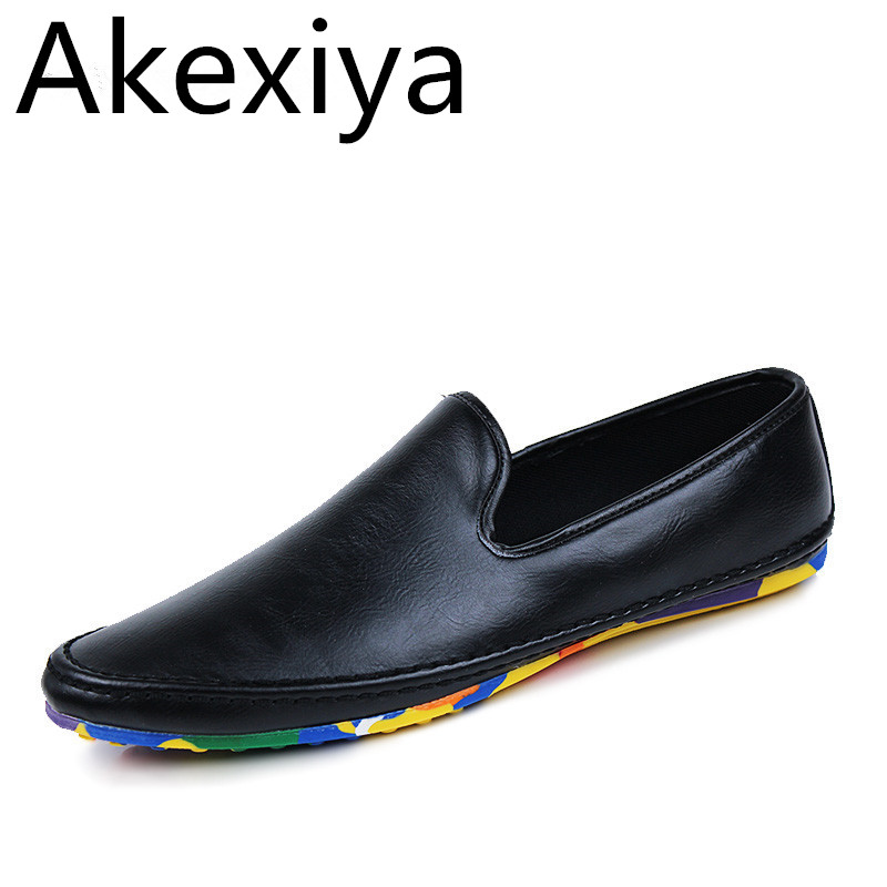 Akexiya Fashion Casual Shoes Men Designer Mens Driving Shoes High Quality Penny Loafers Luxury Brand Espadrilles Flats Moccasins cbjsho brand men shoes 2017 new genuine leather moccasins comfortable men loafers luxury men s flats men casual shoes