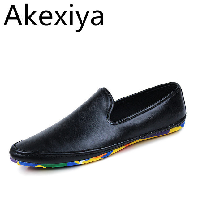 Akexiya Fashion Casual Shoes Men Designer Mens Driving Shoes High Quality Penny Loafers Luxury Brand Espadrilles Flats Moccasins