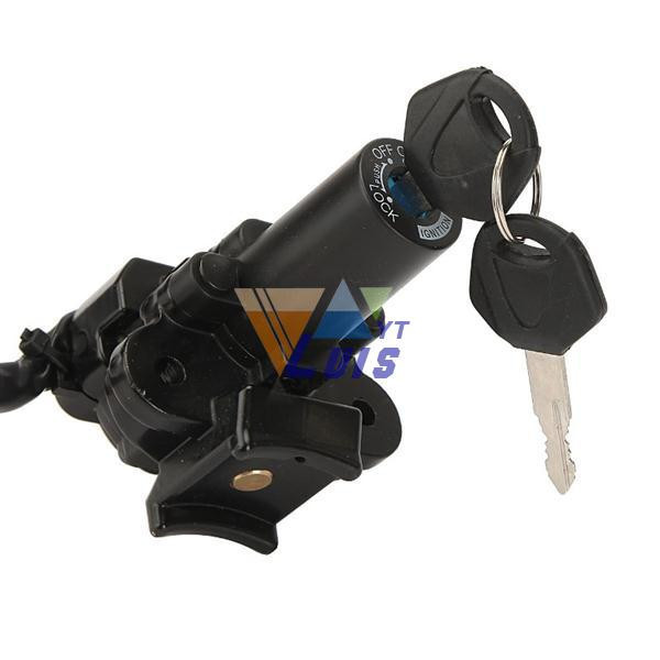Motorcycle ignition switch +fuel gas cap+ seat lock key set (9)