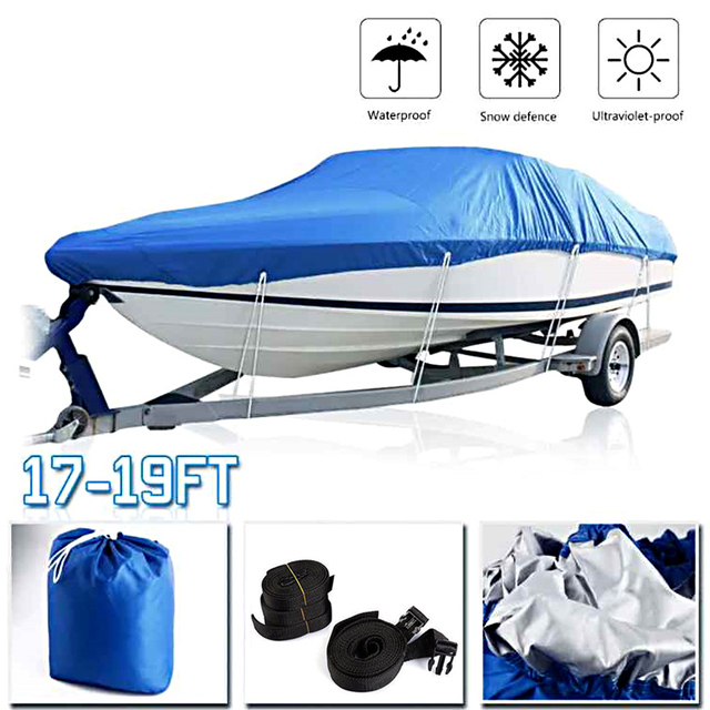 KKMOON Cover Waterproof Silver Reflective Fits V-HULL TRI-HULL Runabout Bass Boat