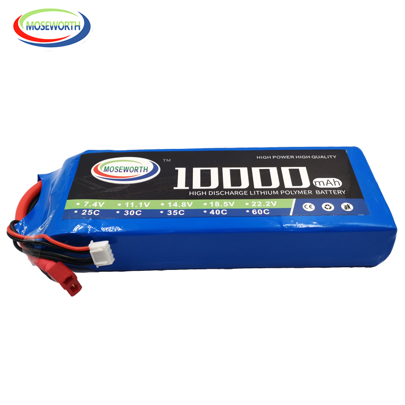 RC Lipo Battery 4S 14.8V 10000mAh 25C Batteries For RC Drone Car Helicopter Quadcopter Airplane Boat Battery LiPo 10Ah AKKU