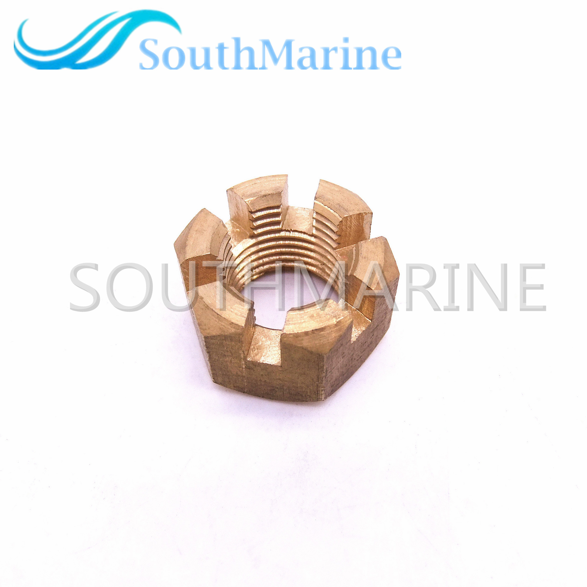 Outboard Engine Marine Parts 90171-16011 Nut, Propeller Castle For Yamaha 40HP 50HP 55HP 60HP 70HP 90HP, Free Shipping