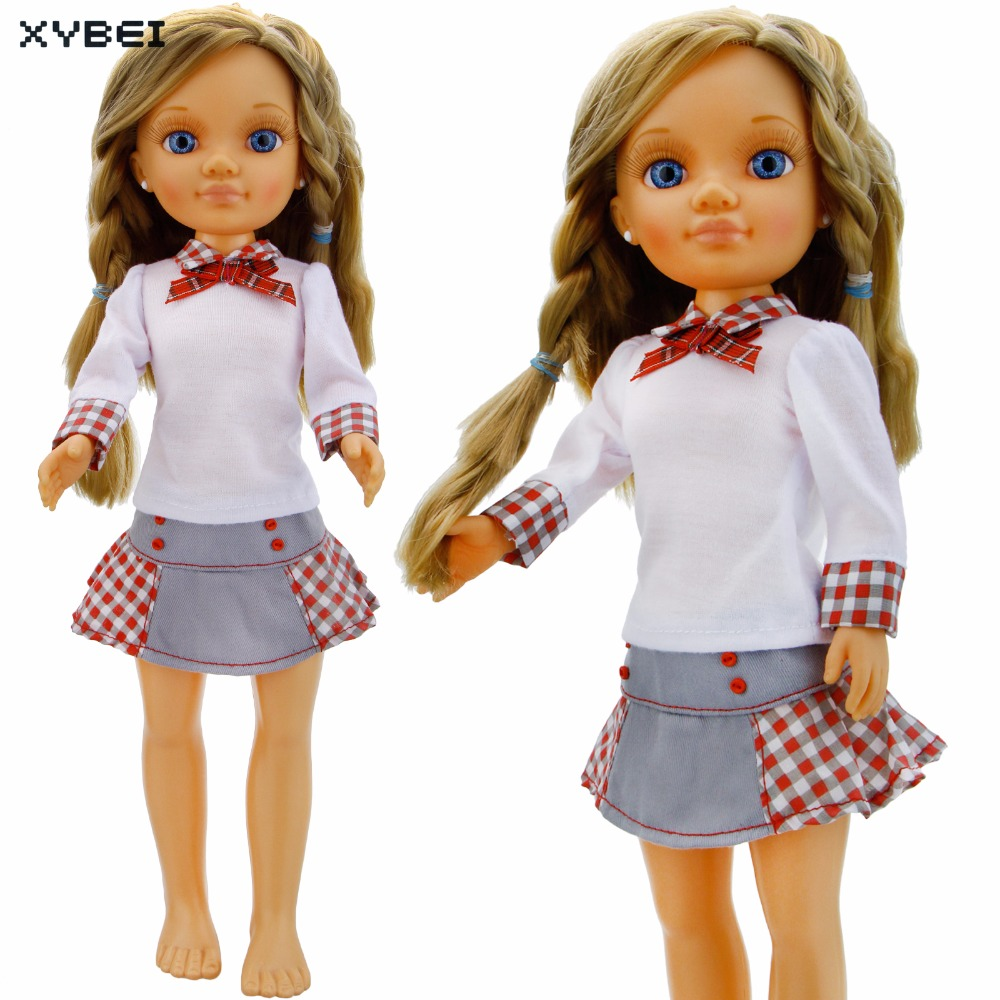 Fashion Lattice Dress School Uniform Bowknot Tie Daily Casual Wear Skirt Clothes For Sharon Doll 16 Puppet Accessories Gift Toy the daily village perfect canada white skirt turquoise barely there tops wear hollywood miss picture universe panache bikini
