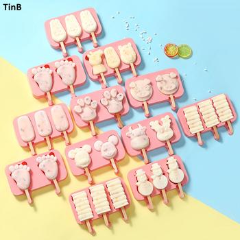 10 styl DIY silikonowy lód forma na krem formy do lodów maszyna do lodów na patyku uchwyt mrożona forma lodowa z patyczki do lodów pokrywka narzędzia kuchenne tanie i dobre opinie TINb Ice cream makers Zaopatrzony Ekologiczne ice cream mold Lody narzędzia SILICONE Ice Cream Mold Popsicle Mold popsicle molds