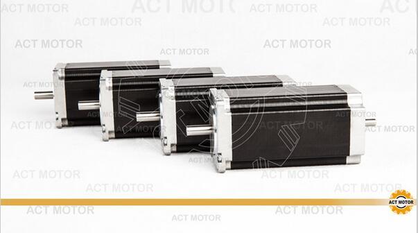 ACT Motor 4PCS Nema23 Stepper Motor 23HS2430B Dual Shaft 4-Lead 425oz-in 112mm 3.0A Bipolar 8mm-Diameter US ME SP IT DE UK Free