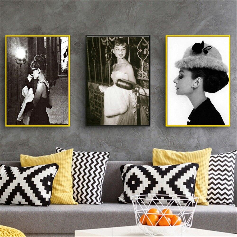 Leinwand Malerei Wand Kunst Bilder Wohnkultur Drucke Audrey Hepburn