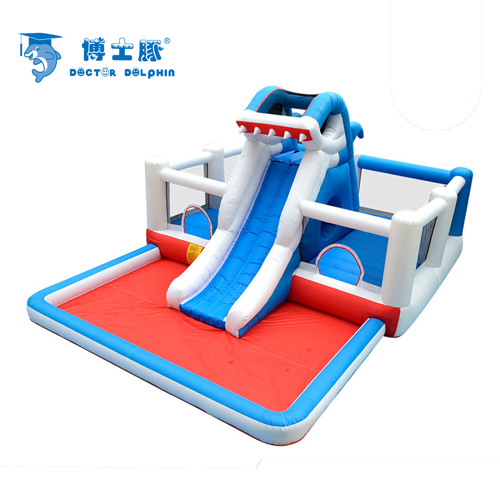 Grand parc aquatique équipement château gonflable jouets de plein air enfants trampoline parc d'attractions vilain château