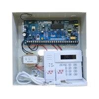 Горячая Распродажа промышленных охранной сигнализации дома системы PSTN вызова 8/16 провода и 16 беспроводной зон PIR сенсор детекторы дыма двер