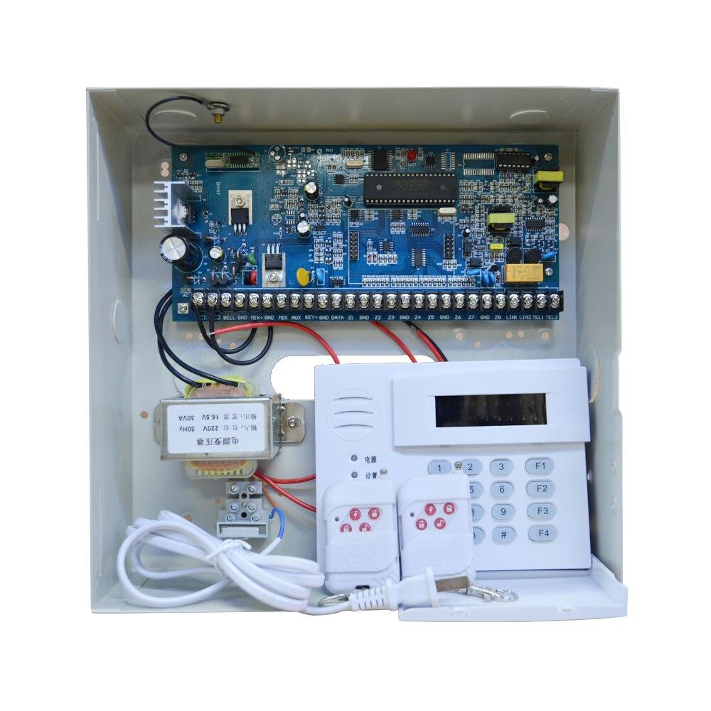 Hot Sale Industrial Security Home Alarm System PSTN Calling 8/16 Wire And 16 Wireless Zones PIR Sensor Smoke Detector Door Open