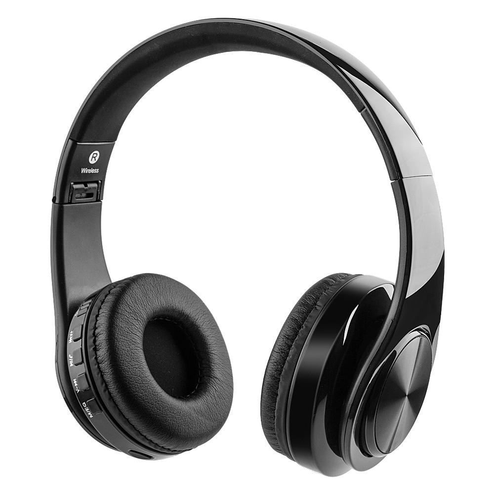 Bluetooth Kopfhörer Kopfhörer HeadphoActive Noise Cancelling Stereo Wireless Headset mit TF Karte Eingang, Aux linie, Weiche Ohrenschützer