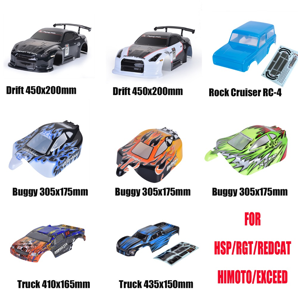 HSP Rc Car Body Shell Original Parts For 1/10 Scale 4WD On Road Drift Racing Off Road Buggy Trucks Bodies Shell