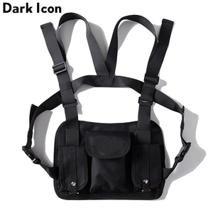 Image 3 - Dark Icon Multi Function Pocket Gilet 2019 New Fashion Vest Best Match Hip Hop Vest Men Streetwear Clothing