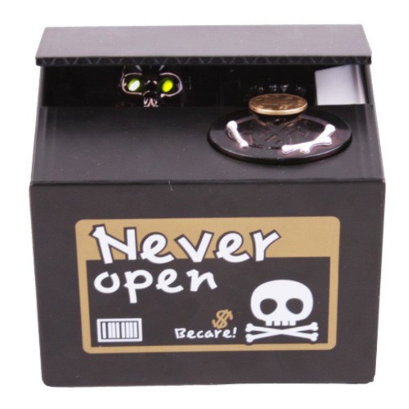 1Piece Skull Skeleton Steal Money Coin Bank Skeleton Bank Ghost Money Box with Popping Home Decor Kids Gift Halloween Gift