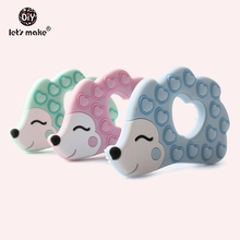 Let's Make 5pcs New Silicone Hedgehog Shape Pendants BPA Free Teething Cartoon Animals Porcupine Food Grade Baby Teethers