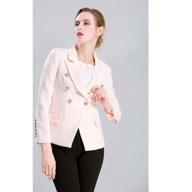 womens uniform pants New Styie Double Breasted Women Suits 2 Pieces Jacket+Pants Formal Blazers
