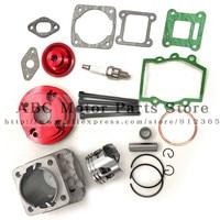 44mm Cylinder Assy Big Bore 44 6 Kit Set 2 Grooves For 47cc 49cc Mini Dirt ATV Pocket Bikes Minimoto