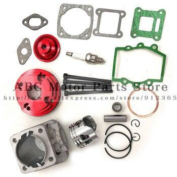 44mm Cylinder Assy duża pojemność 44-6 zestaw zestaw 2 rowki dla 47cc 49cc Mini Dirt ATV rowery kieszonkowe Minimoto