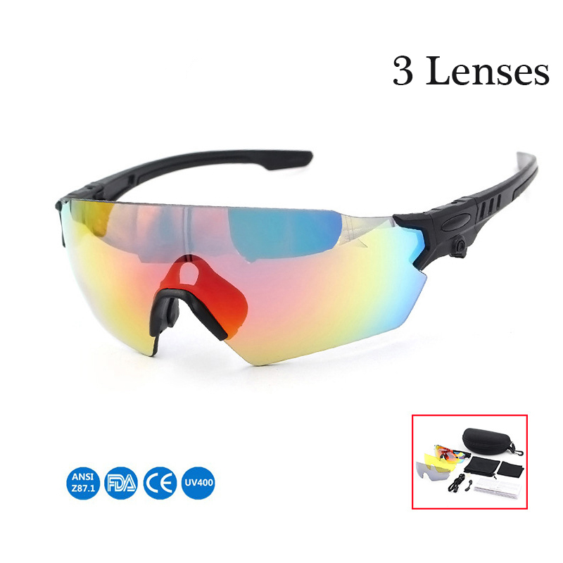 Quality Polarized Cycling Glasses Outdoor Fishing Goggles Eyewear Bike MTB Bicycle Sun Glasses Sport Sunglasses Myopia 3 Lens rimless sunglasses ultra light crystal diamond glasses myopia sunglasses women can be customized bright reflective polarizer