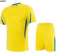 2017 Short Sleeves Round Neck Football Uniforms Men S Soccer Jerseys Sets Custom Survetement Football Training