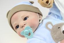 22 дюймов 58 см Полный силиконовые куклы младенца для продажи Виктория Настоящий ребенок жив bonecas Ручной лучший подарок детям