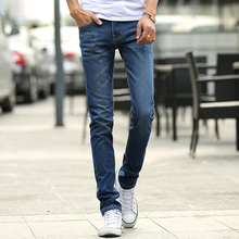 cotton Men Jeans 2017 new fashion business popular male blue jeans boy best choice Hot sale slim clothing Size 38 classic design
