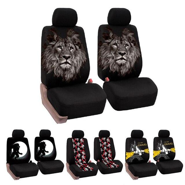 Universal Car Seat Covers Interior Decor Fashion Animal Pattern Auto Cover Protector