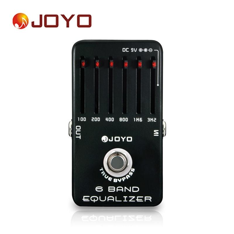 JOYO JF-11 6 bandes égaliseur EQ stompbox ajuster basse mi haute fréquence au meilleur ton effet guitare padal true dérivation