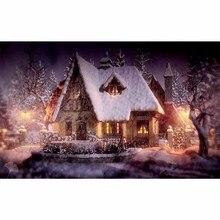 5D DIY Diamant Malerei Kreuzstich Diamant Stickerei Nacht Schnee Landschaft Muster Hobbys und Diamant Mosaik Weihnachten