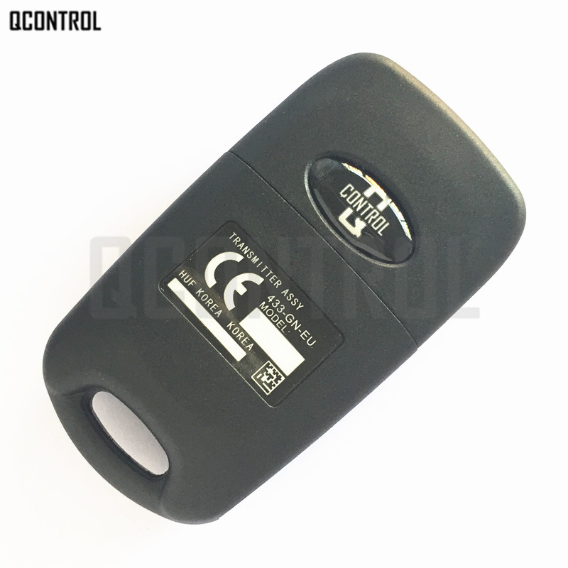 Image 2 - QCONTROL Car Remote Key Suit for HYUNDAI CE0682 OKA 185T Auto 433MHz Transmitter ASSY 433 EU TP-in Car Key from Automobiles & Motorcycles
