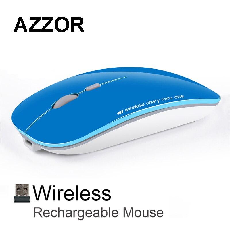 Azzor N5 Перезаряжаемые Беспроводной Мышь Тихая Mute USB оптическая Мышь 2.4 ГГц Super Slim Мышь Мыши компьютерные для компьютера Планшетные ПК