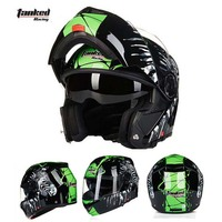 Tanked Racking T112 Open Face Motorcycle Helmet Motorbike Flip Up Moto Off Road Motocross Helmets Safety