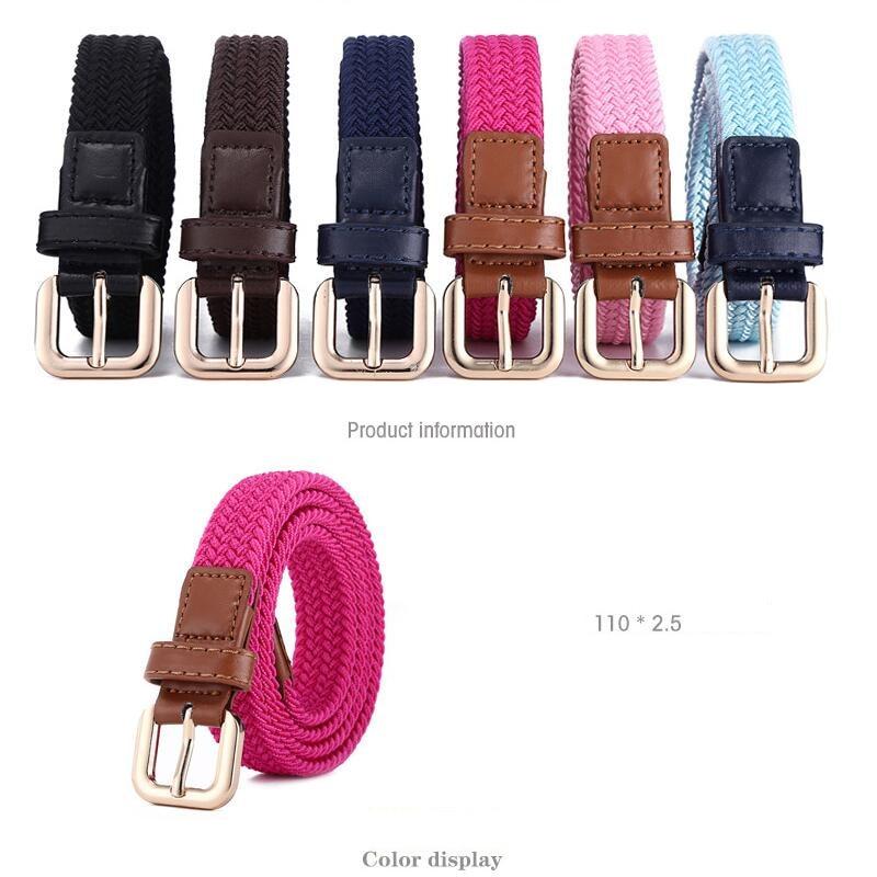Women Elastic Woven Elastic Belt Male Cloth Belt Male Pin Buckle Canvas Strap Jeans Belt In The Waist Of Trousers Zpxhyh Belts