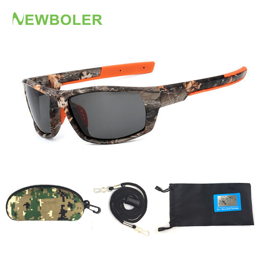 7296793703 NEWBOLER Camo Sunglasses Polarized Men Fishing Spectacles Driving Cycling  Sport Glasses oculos de sol Fishing Equipment