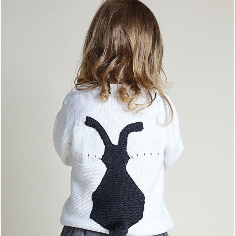 New 2018 Spring Autumn Bobo Style Girl Boys Sweater Baby Girls & Boy sweater Kids Boutique Knitted Wool Cartoon Rabbit sweater sweater fobya sweater