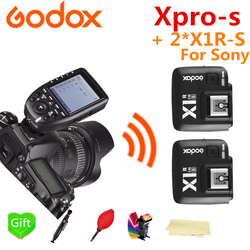 Godox Xpro-S HSS TTL 2.4G Wireless Flash Trigger Transmitter + 2* X1R-S for Godox V860II-S TT600S TT685-S for Sony Camera