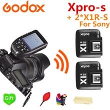 Godox Xpro-S HSS TTL Wireless Flash Trigger Transmitter + 2* X1R-S Receiver for Sony Camera Godox V860II-S TT600S TT685-S Flash