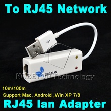 KEBETEME USB 2.0 to RJ45 Network Card Lan Adapter For Mac OS Android Tablet PC Win 7 8 10 XP 100Mbps High speed